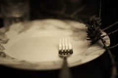 Тонизированная вилка в monochrome плиты Стоковые Изображения RF