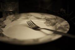 Тонизированная вилка в monochrome плиты Стоковые Изображения