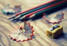 Тонизированная древесина погани точилки для карандашей Стоковое Фото