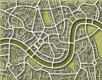 тонизированное безыменное карты Стоковое Изображение RF