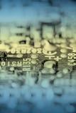 тонизированное ретро цепи доски электронное Стоковая Фотография