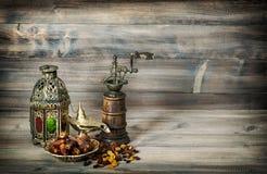 Тонизированный год сбора винограда праздников винтажной восточной мельницы фонарика исламский стоковое фото