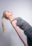 Тонкая девушка в студии, составе в восточном стиле Стоковая Фотография RF