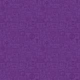Тонкая линия картина школы знания образования фиолетовая безшовная Стоковое Изображение