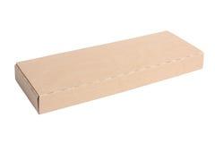 Тонкая картонная коробка изолированная на белой предпосылке Стоковая Фотография RF