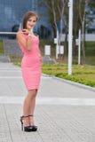 Тонкая милая девушка студента стоковое фото rf