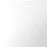 Тонкие динамические изогнутые линии monochrome геометрическая картина Стоковое Фото