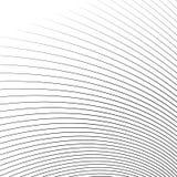 Тонкие динамические изогнутые линии monochrome геометрическая картина Стоковое Изображение RF