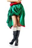Тонкие ноги женщины нося одежды эльфа Стоковое Изображение RF
