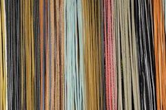 Тонкие полосы кожи в различных цветах стоковые изображения rf