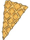 Тонкий клин Waffles для украшения печенья иллюстрация вектора