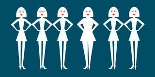 Тонкое сало женщин осуждая нормальный определило размер женщину Иллюстрация штока