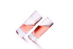 тонкое стекел жидкостное розовое Стоковое Изображение RF