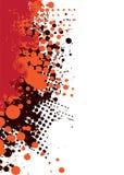 тонкое grunge горячее красное Стоковые Фото