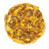 Тонко отрезанные pepperoni популярное отбензинивание пиццы стоковые изображения
