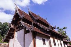 Тонна Kain Wat, деревянная часовня в chiangmai, Таиланде Стоковое Изображение