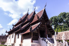 Тонна Kain Wat, старая деревянная часовня в Чиангмае Таиланде Стоковые Изображения