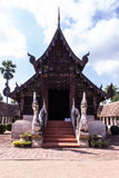 Тонна Kain Wat, старая деревянная часовня в Чиангмае Таиланде Стоковая Фотография RF