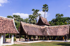 Тонна Kain Wat, старая деревянная часовня в Чиангмае Таиланде Стоковое Изображение