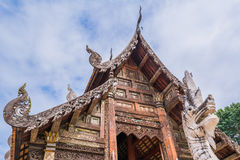 Тонна Kain Wat, старый висок в Чиангмае Таиланде Стоковые Фото