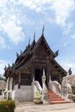 Тонна Kain Wat, часовня старого Teak деревянная в chiangmai, Таиланде Стоковое Изображение