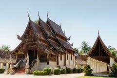 Тонна Khen Wat, старый деревянный висок в стиле lanna, Таиланд Стоковое Фото