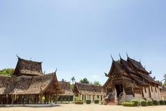 Тонна Khen Wat, старый деревянный висок в стиле lanna, Таиланд Стоковая Фотография