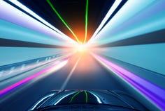 тоннель автомобиля перемещая Стоковые Фотографии RF