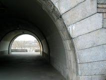 тоннель берег реки парка manhattan пешеходный Стоковые Фотографии RF