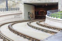 Тоннель для линии трамвая Стоковое Фото