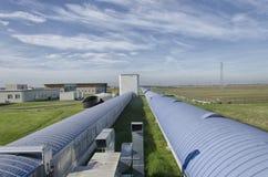 Тоннель интерферометра Virgo западный Стоковое Фото