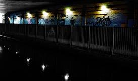Тоннель канала на канале Trent и Мерси, Гладить рукой-на-Trent стоковое фото rf