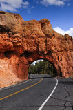 тоннель красного цвета каньона Стоковое фото RF
