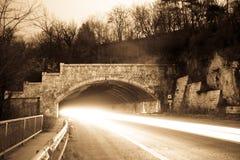 тоннель ночи Стоковая Фотография