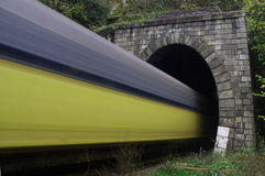 тоннель поезда скорости Стоковые Фотографии RF