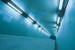 тоннель светильников длинний Стоковое Изображение RF