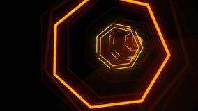 Тоннель семиугольника VJ Techno иллюстрация штока