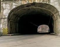 Тоннель в montain, Vidraru Румыния Стоковые Изображения RF