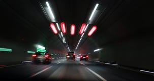Тоннель Германия ночи стоковые изображения