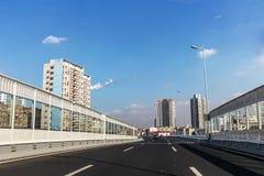 Тоннель залива Jiaozhou подводный в Qingdao, Китае стоковые фотографии rf
