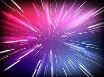 Тоннель космоса вектора абстрактный Стоковые Изображения