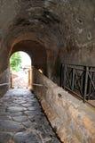 Тоннель к миру истории Помпеи Стоковая Фотография