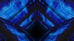 Тоннель матрицы 3D кода данным по компьютера иллюстрация штока
