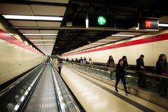 Тоннель метро, Гонконг, Китай стоковая фотография