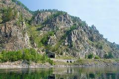 Тоннель на железной дороге circum-Байкала Стоковые Изображения