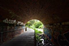Тоннель надписей на стенах Стоковая Фотография
