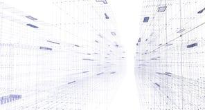 тоннель ночи бинарного города цифровой Стоковые Фотографии RF