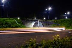 Тоннель, дорога, лампы Стоковые Фото