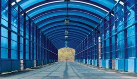 тоннель пешехода входного аэродромного огня Стоковая Фотография