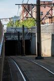 Тоннель рельса метро буйвола Стоковая Фотография